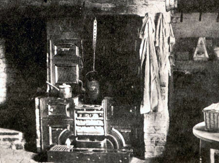A cottage kitchen range c.1900, where bread would have been baked at least weekly.