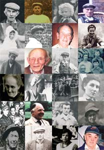 Collage image of contributors to the Somerset Voices project.