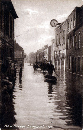 River Parrett flooding in Langport, 1894